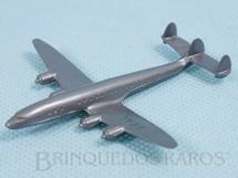 1. Brinquedos antigos - Sem identificação - Avião Super Constellation com 7,5 cm de envergadura Inscrição Real na asa esquerda Década de 1960