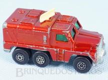 Brinquedos Antigos - Matchbox - Badger Rola-Matics vermelho metálico cream antennae