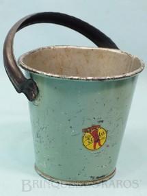 1. Brinquedos antigos - Wida - Balde de praia com 14,00 cm de altura Coleção Carlos Augusto Ano 1937