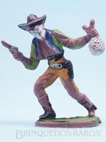 Brinquedos Antigos - Casablanca e Gulliver - Bandido andando com revolver e saco de dinheiro