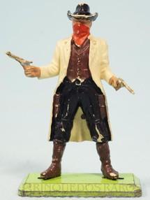 1. Brinquedos antigos - Britains - Bandido de pé com dois revolveres Série Deetail Década de 1970