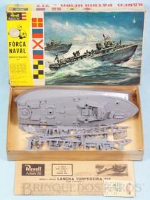 1. Brinquedos antigos - Revell - Barco Patrulheiro PT-212 Força Naval Caixa Dura Ano 1964