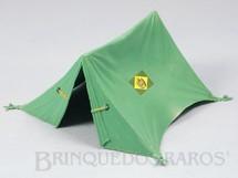 1. Brinquedos antigos - Casablanca e Gulliver - Barraca de Campanha verde claro com 15,00 cm de comprimento Série Tropas Imperiais Década de 1970