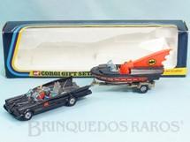 1. Brinquedos antigos - Corgi Toys - Batman Gift Set Batmobile whit Batboat Batmóvel com Batlancha ultima versão falta a figura do Robin Ano 1977 a 1981