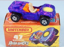 1. Brinquedos antigos - Matchbox - Beach Hopper Rola-Matics pink base