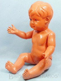 1. Brinquedos antigos - Sem identificação - Bebê com 39,00 cm de altura Olhos pintados Década de 1930