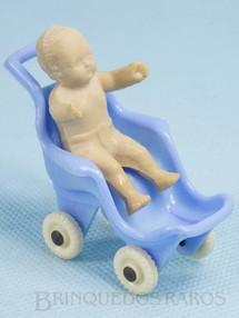 1. Brinquedos antigos - Thomas Toy - Bebê com Carrinho 6,00 cm de altura Década de 1950