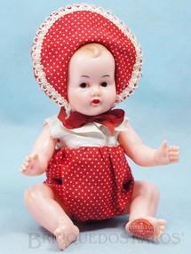 1. Brinquedos antigos - Estrela - Bebê Plastrela com 20,00 cm de altura Articulado todo original Macacão de algodão e blusa de tecido plástico Olhos e cabelos pintados Ano 1956