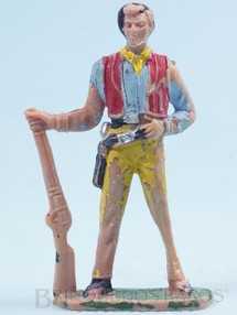 Brinquedos Antigos - Casablanca e Gulliver - Ben Cartwrith de pé com rifle Gulliver Série Fazenda Ponderossa