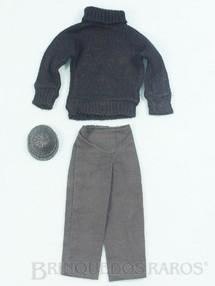 Brinquedos Antigos - Estrela - Blusa de lã gorro e calça Aventura Contra Espionagem Missão Especial a Ilha dos Espiões Edição 1977
