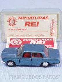 1. Brinquedos antigos - Schuco-Rei - BMW 2800 azul metálico Schuco Modell Brasilianische Schuco Rei com Catálogo