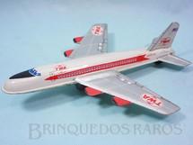 1. Brinquedos antigos - Sem identificação - Boeing 707 Super Jet TWA com 25,00 Cm de comprimento Década de 1970