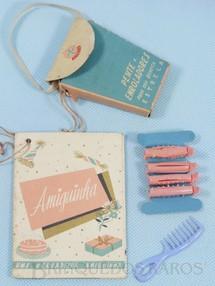 Brinquedos Antigos - Estrela - Bolsinha de papel Folheto e Acessórios da Boneca Amiguinha Ano 1965