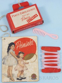 Brinquedos Antigos - Estrela - Bolsinha de papel folheto e Acessórios da Boneca Priminha Ano 1961