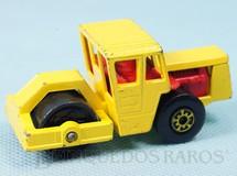 Brinquedos Antigos - Matchbox - Bomag Road Roller Superfast amarelo
