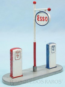 1. Brinquedos antigos - Dinky Toys - Bombas de Gasolina Esso Gas Pumps 9,00 cm de comprimento Ano 1959