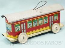 1. Brinquedos antigos - EVA - Bonde Elétrico Vila Mariana com 18,00 cm de comprimento Coleção Carlos Augusto Ano 1937