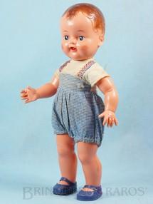 1. Brinquedos antigos - Estrela - Boneco Pupi com 33,00 cm de altura Todo articulado Olhos de dormir Cabelo pintado Calção de algodão e Blusa de cambraia 100% original Ano 1956