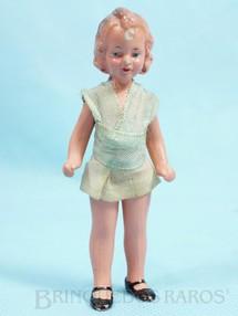 1. Brinquedos antigos - Sem identificação - Boneca com 10,00 cm de altura Roupa de tecido Década de 1930