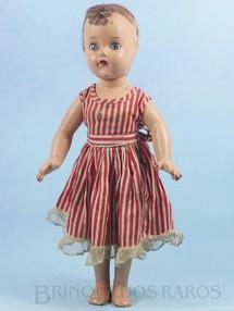 1. Brinquedos antigos - Estrela - Boneca de Massa com 35 cm de altura vestido original Década de 1940