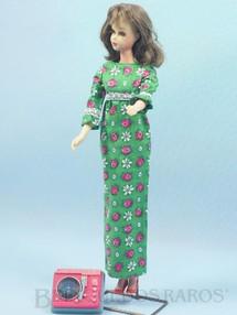 Brinquedos Antigos - Mattel - Boneca Francie prima da Barbie vestindo o Conjunto Go Granny Go Anos 1966 e 1967 Para maiores informações sobre essa Boneca veja Coleções.