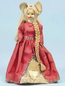 1. Brinquedos antigos - Eros - Boneca Giulietta com 18,00 cm de altura rosto de massa e corpo de plástico Olhos pintados Década de 1960