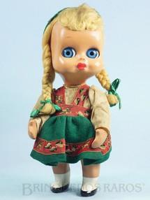 1. Brinquedos antigos - Maura - Boneca Googly Eye Dedo Doll com 24,00 cm de altura Cabeça e corpo de plástico rígido Olhos de acompanhar Cabelo natural Década de 1950
