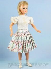 Brinquedos Antigos - Milanese Bonomi - Boneca Jenny com 32,00 cm de altura Rosto e corpo de Plástico Rígido Olhos de dormir e de acompanhar Pré Barbie Doll Década de 1950