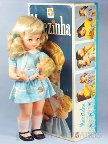 Brinquedos Antigos - Estrela - Boneca Mãezinha Ternura e Encantamento completa com Bebê 55,00 cm de altura Perfeito estado 100% original ainda com Proteção de celofane nos cabelos Ano 1976
