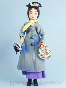 Brinquedos Antigos - Gund Co. - Boneca Mary Poppins tipo Pose Doll com 30,00 cm de altura Rosto de Tecido Walt Disney Copyright Década de 1960