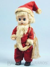 1. Brinquedos antigos - Trol - Boneca Papai Noel com 21,00 cm de altura Brinde da Cesta de Natal Amaral Década de 1960