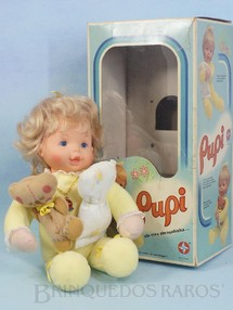 Brinquedos Antigos - Estrela - Boneca Pupi com 37,00 cm de altura 100% original Perfeito estado Cabeça de Vinil corpo de tecido Acompanha Ursinho e Travesseiro Cabelos de Nylon e Olhos pintados Ano 1979
