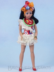 1. Brinquedos antigos - Estrela - Boneca Susi Baiana Série Susi faz Pose Cintura móvel 100% original Perfeito estado Completa Ano 1971