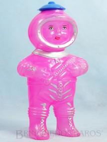 1. Brinquedos antigos - Sem identificação - Boneco Astronauta com 18,00 cm de altura Embalagem de doces Década de 1970