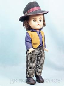 1. Brinquedos antigos - Estrela - Boneca Belinha Tremendão com 35,00 cm de altura Erasmo Carlos Jovem Guarda primeira série com dispositivo de choro Ano 1967