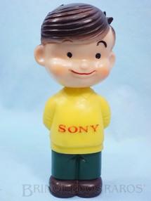1. Brinquedos antigos - Sem identificação - Boneco com 19,00 cm de altura Brinde Sony Promo Doll Sony Boy Datado 1968
