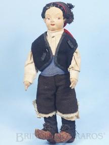 1. Brinquedos antigos - Pagés-Matarin - Boneco com 24,00 cm de altura Rosto de tecido Traje típico Espanhol Década de 1950