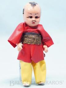 1. Brinquedos antigos - Fada Flex - Boneco com 8,00 cm de altura Kimono Japonês de tecido plástico Olhos de dormir Cabelo pintado Década de 1970