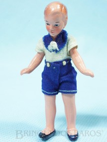 1. Brinquedos antigos - Sem identificação - Boneco com 8,00 cm de altura Roupa de tecido Década de 1930