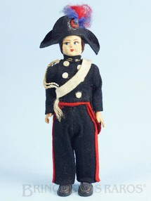 1. Brinquedos antigos - Sem identificação - Boneco com uniforme de Carabiniere 17,00 cm de altura Rosto de tecido e Roupa de Feltro Década de 1950