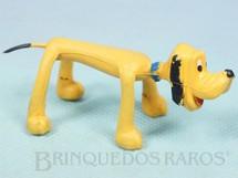 Brinquedos Antigos - Estrela - Boneco do Pluto com 7,00 cm de comprimento Coleção Mini Flex Walt Disney Ano 1970