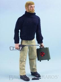 1. Brinquedos antigos - Estrela - Boneco Falcon Loiro com barba Missão Impossível completo com 8 itens Ano 1978