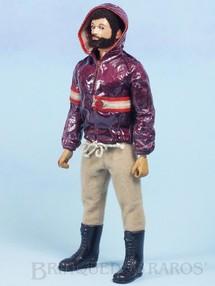 Brinquedos Antigos - Estrela - Boneco Falcon Moreno com Barba Série Olhos de Águia  perfeito estado 100% original completo com 3 Itens Ano 1980