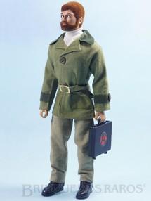 Brinquedos Antigos - Estrela - Boneco Falcon Ruivo com Barba Série Olhos de Águia  perfeito estado 100% original completo com 10 Itens Anos 1979 e 1980