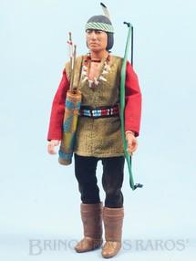1. Brinquedos antigos - Marx - Boneco Índio Apache Red Sleeve Série Lone Ranger  com 25,00 cm de altura Roupas de tecido Ano 1975