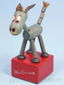 1. Brinquedos antigos - Wakouwa - Burrinho Mula Manca com 15,00 cm de altura Fabricado na Suíça, importado e distribuído pela Estrela Ano 1947