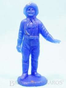 1. Brinquedos antigos - Casablanca e Gulliver - Cabo Rusty Forte Apache Gulliver de plástico azul escuro Década de 1980
