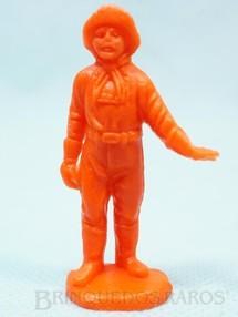 1. Brinquedos antigos - Casablanca e Gulliver - Cabo Rusty Forte Apache Gulliver de plástico laranja Década de 1980
