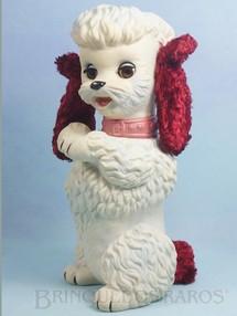 Brinquedos Antigos - Estrela - Cachorro Almofadinha com 28,00 cm de altura Olhos de dormir Orelhas de Pelúcia e apito Ano 1963