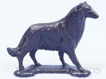 1. Brinquedos antigos - Casablanca e Gulliver - Cachorro Raça Collie Lassie de plástico preto Série Fazendinha Década de 1970 Preço por unidade